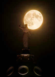 Super-Moon And The Scales Of Justice