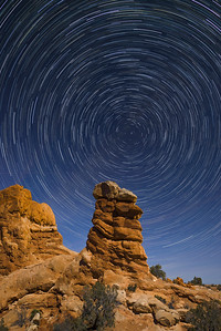 Star Trails, Arches NP.