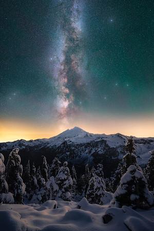 Rare conditions line up at Mt Baker - Washington