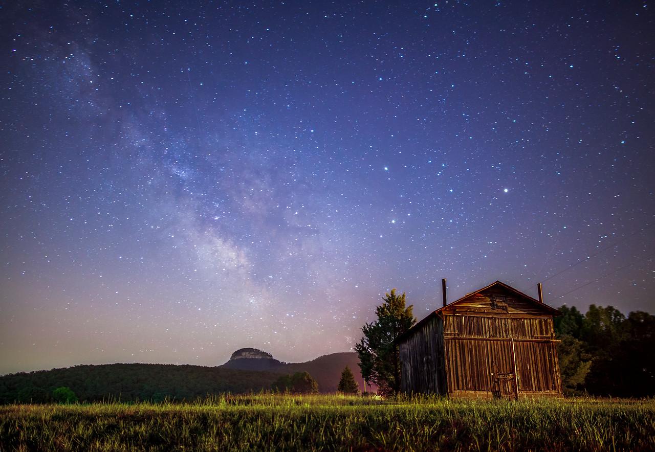 Pilot Mountain Milky Way