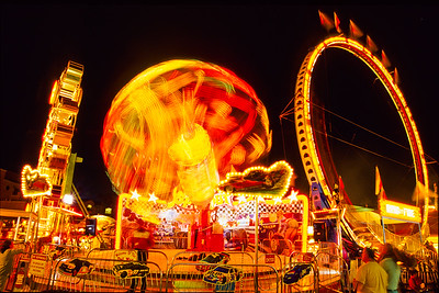 Long exposure of carnival ride.  Del Mar Fair, Del Mar, California.