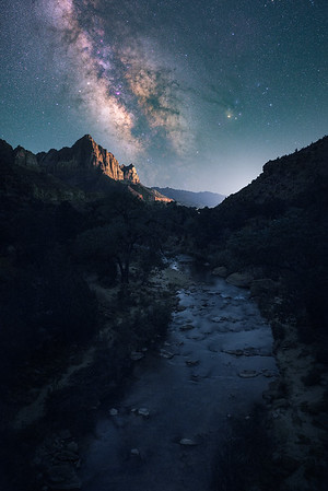 Milky Way and The Watchman - Zion, Utah