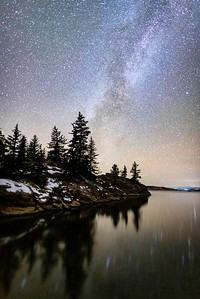 Early November Milky Way over Eleven Mile Reservoir, Lake George, CO.