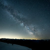 Milky Way with Seattle light pollution