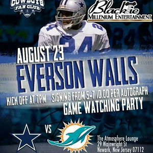 Everson walls Game watching Party and signing