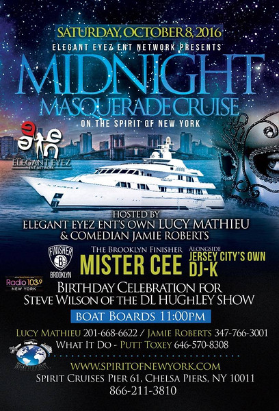 WE ARE GETTING READY FOR LIBRA SEASON.... COLUMBUS DAY WEEKEND WE ARE PARTYING ON THE BOAT... MASQUERADE STYLE... LIBRAS IF YOU WANNA CELEBRATE YOUR BIRTHDAY HOLLA AT Lucy Mathieu ASAP... DM, CALL, OR TEXT HER FOR MORE INFO AT 2016686622 .... MUSIC BY THE FINISHER MISTER CEE AND MYSELF.... GET YOUR TICKETS ASAP....