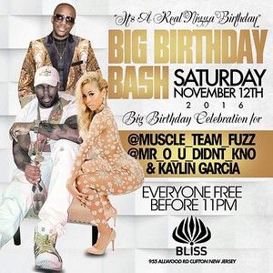 @BLISSLOUNGE IS THAT NEW WAVE 🌊🌊🌊 WHERE ALL MY #SCORPIOS AT WE  GOT DA SEXY @KAYLIN_GARCIA CELEBRATING HER BDAY WITH US ALONG SIDE THE HEAVY HITTERS @MUSCLE_TEAM_FUZZ ND @MR_O_U_DIDNT_KNO SATURDAY NOV 12 AT @BLISSLOUNGE MUSIC BY DA LEGENDARY @DJMISTERCEE SHIT GONNA BE A MOVIE🎬🎥📽 EARLY ARRIVAL RECOMMEND THIS A EVENT U CAN'T AFFORD 2 MISS HIT ME UP ASAP 2 CELEBRATE UR BDAY WITH ME 4 FREE VIPS GOIN FAST 862-371-8473