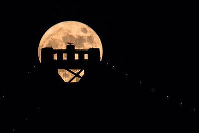 Moonrise Over Bay Bridge Tower – Color