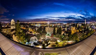 Twilight Berkeley from UC Cal Memorial Stadium