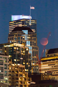 Lunar Eclipse — Seattle Skyscraper – 27 Sep 2015