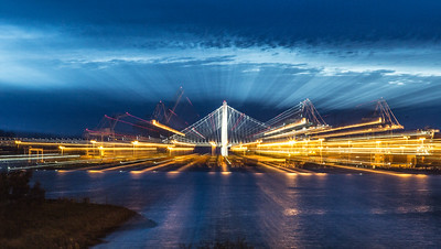 Zoom — Zoom —Zoom ... Oakland San Francisco Bay Bridge from Port of Oakland