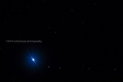 Star Rigel in the Orion Constellation