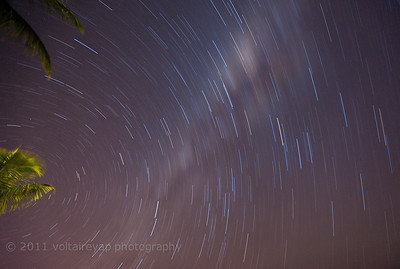 Star Trails and the Milky Way  Sugar Beach Flic en Flac Mauritius May 2011