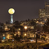 Super Moon over Coit Tower