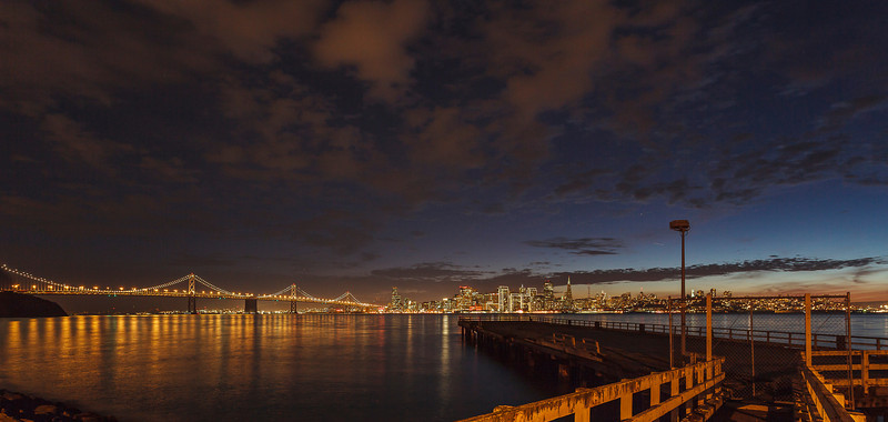 The Bay Bridge and San Francisco Skyline