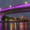 Minneapolis skyline under 35W Bridge