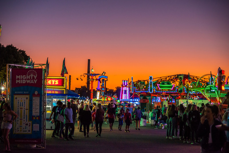 Twilight at the MN State Fair