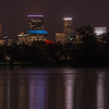 Minneapolis skyline and reflections