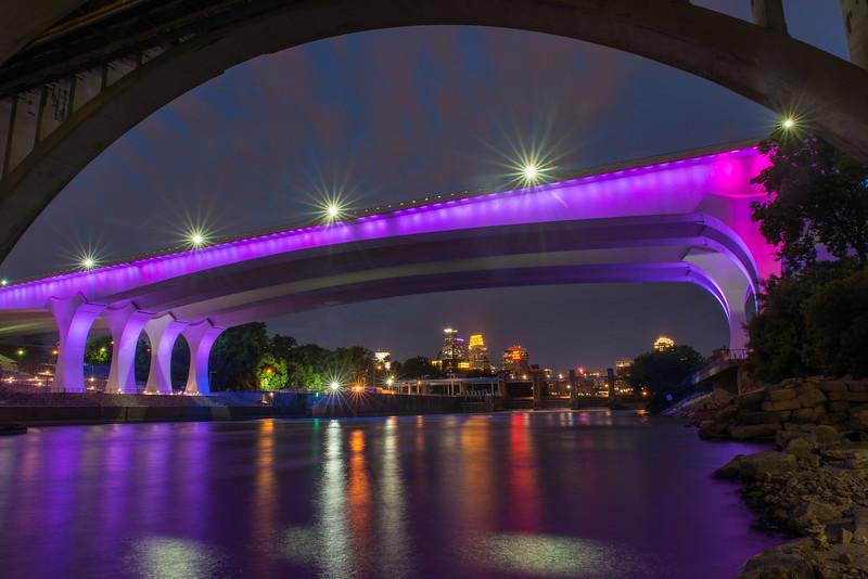 35W Bridge and reflections