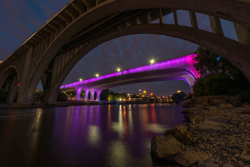 35W Bridge lit up