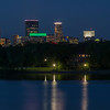 Minneapolis and reflections at Lake of the Isles