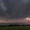 Thunder and lightning over the prairie