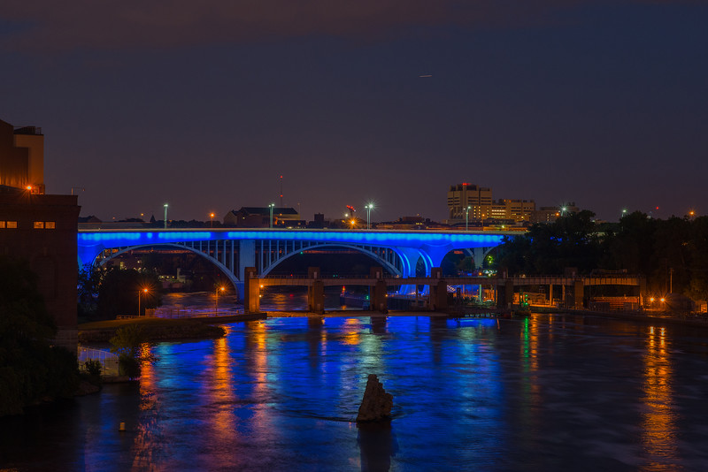 Mississippi River in blue