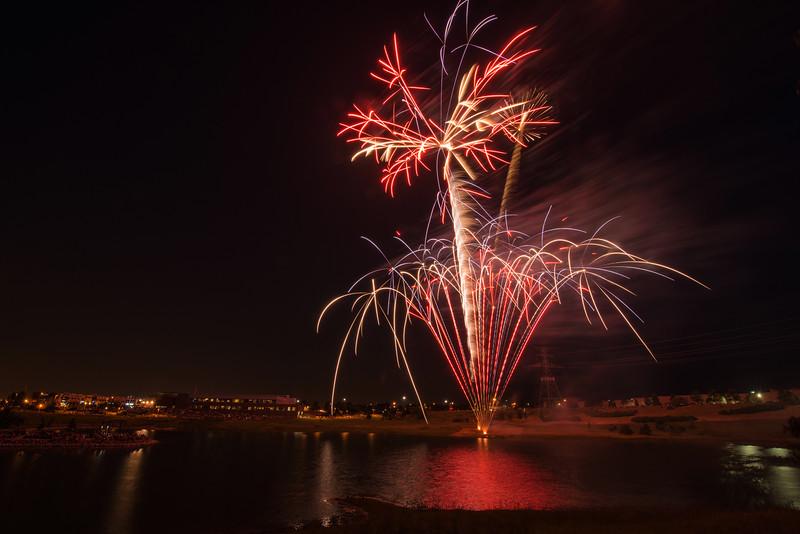 Start of the fireworks