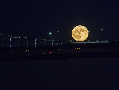 Harvest Moon and the City