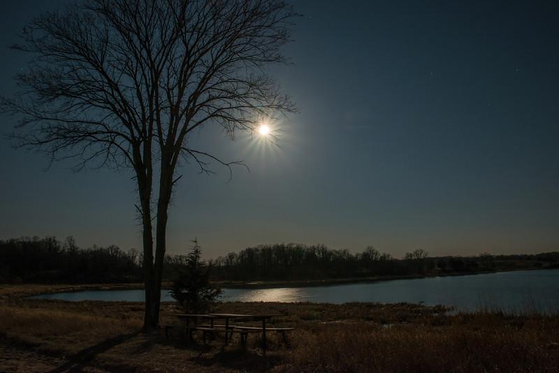 Full Moon over Prairie Lake