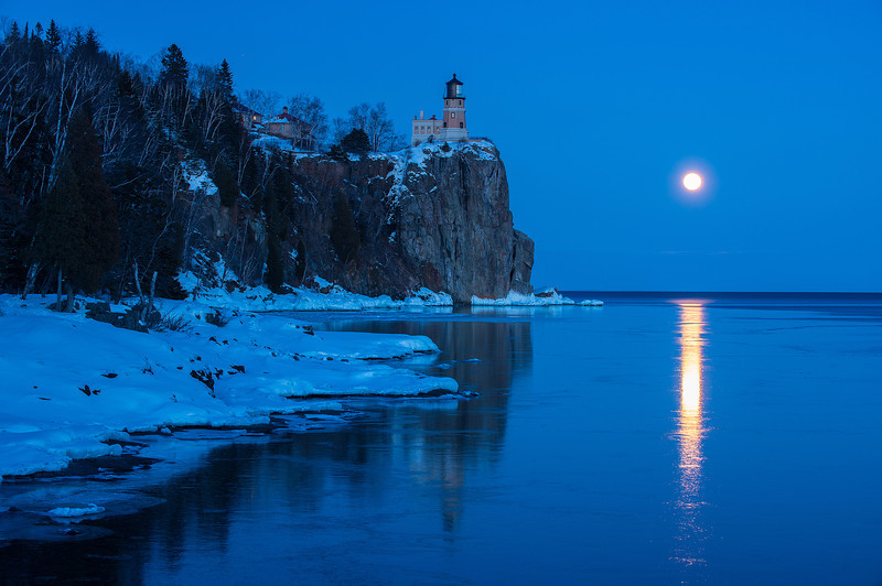 Full Moon reflections on Lake Superior