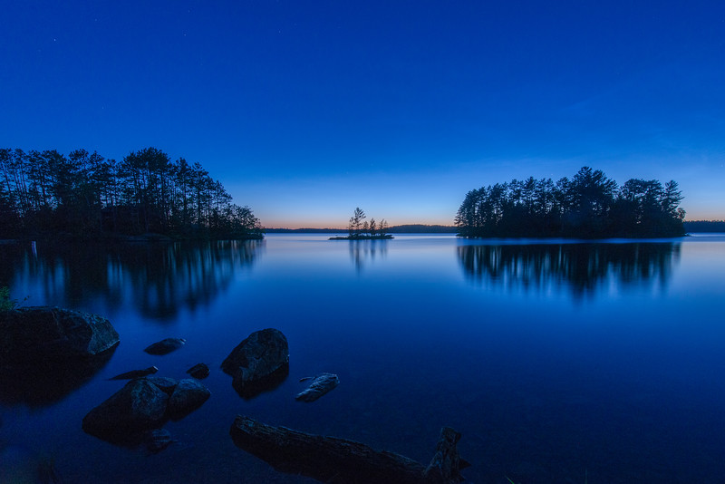 Burntside lake during Blue Hour