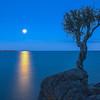 MNLR-12275H: Full moon on Lake Superior