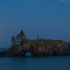 Lake Superior full moon