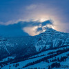 TRWY-12-16: Full moon rising in Yellowstone National Park