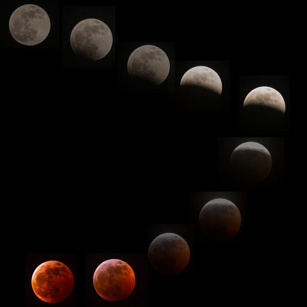 Full moon eclipse composite
