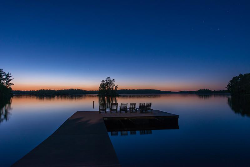 Burnside lake at night