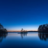 Blue Hour on Burntside Lake