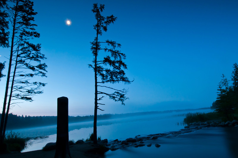 MNLR-11154: Moon light at the Headwaters of the Mississippi