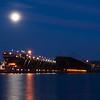 MNGN-12009: Full Moon over Two Harbors, MN loading docks
