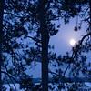 MNWN-7013 Winter Full Moon-Photographed at White Iron Lake in NE Minnesota at around -15 F.