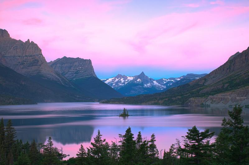 TRMT-12197: Twilight glow on St. Marys Lake