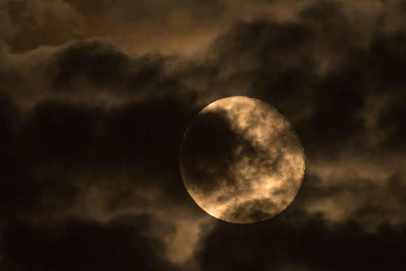 Full Moon amongst clouds