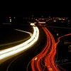 A highway (A28/E30) in the night