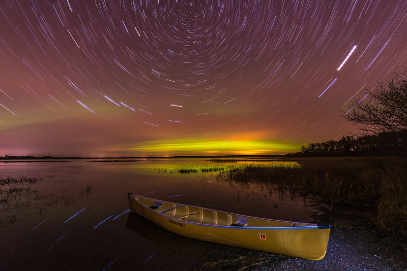 Wenonah Canoe and star trails