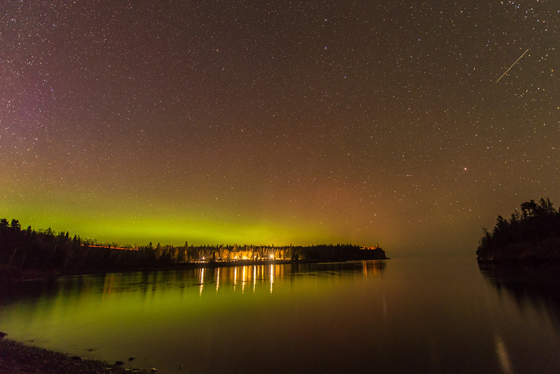 Northern Lights in Burlington Bay