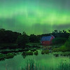 Auroras over Red Barn