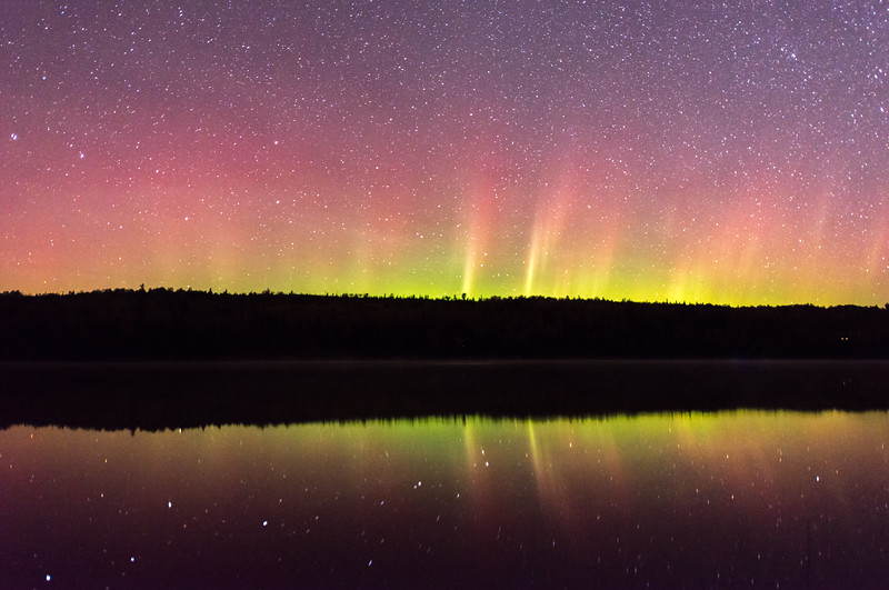 Northern Lights over Poplar Lake