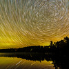 West Bearskin Lake Aurora and star trails