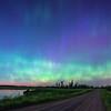 Aurora Borealis over wetland
